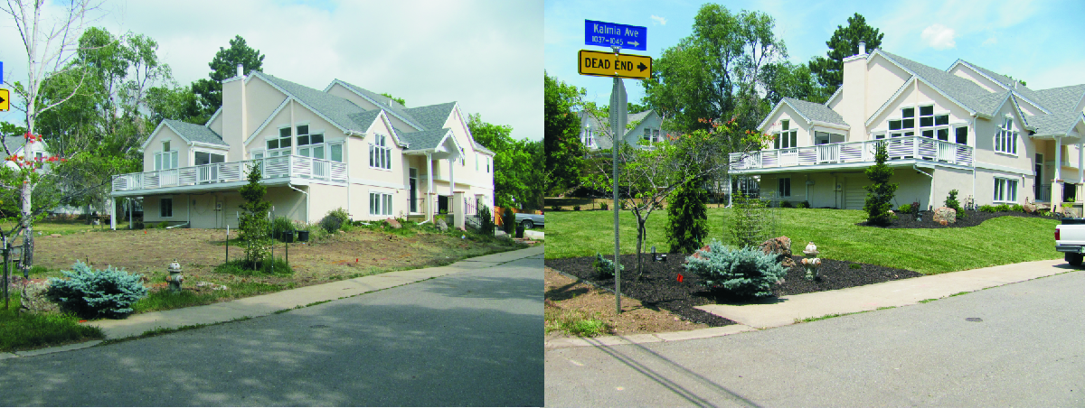 before and after photos u2013 glacier view landscape and design inc