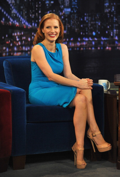 "Jessica Chastain Visits ""Late Night With Jimmy Fallon"""