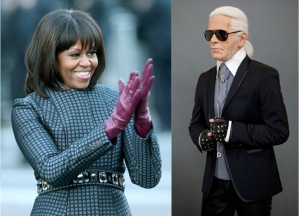 Karl Lagerfeld Michelle Obama
