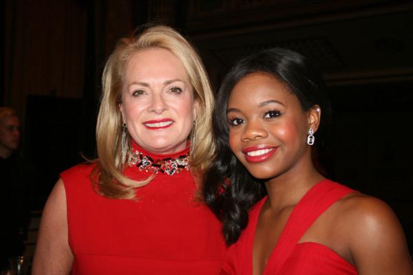 Designer Pamela Rolland with Olympian Gabby Douglas