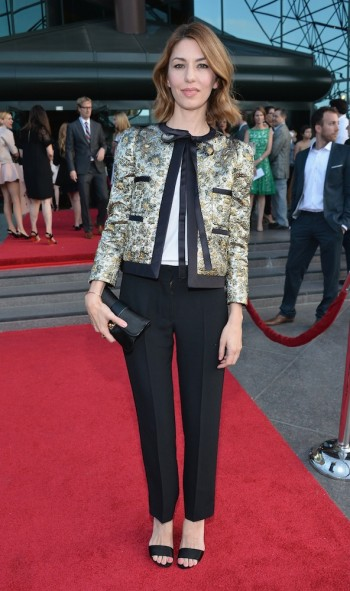 Sofia Coppola in Louis Vuitton at the premiere of A24's