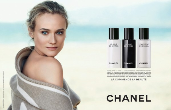 Diane-Krugers-Chanel-Beauty-cosmetics-Campaign-Le-jour-de-chanel-la-neit-de-chanel-le-weekend-de-chanel-creams