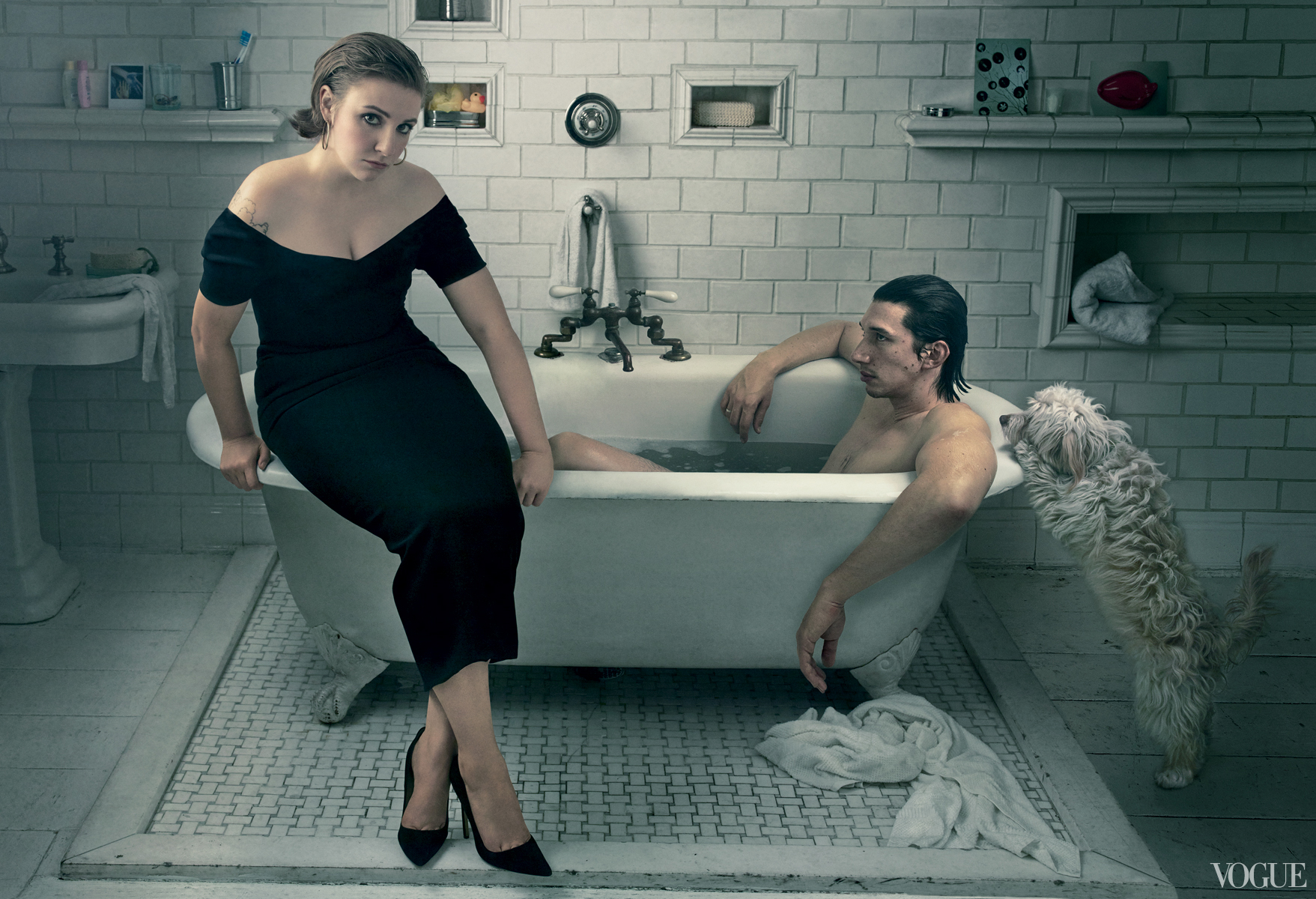 Lena Dunham and Adam Driver for Vogue