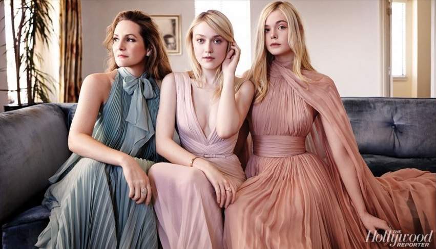 Dakota Fanning and Elle Fanning With Stylist Samantha McMillen