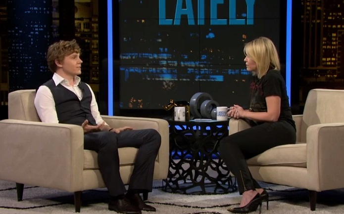 Evan Peters Discusses First Kiss With Emma Roberts on Chelsea Lately [VIDEO]