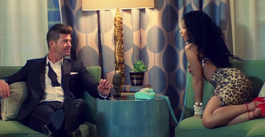 Robin Thicke Has Fancy Backyard Party In Back Together Music Video Featuring Nicki Minaj