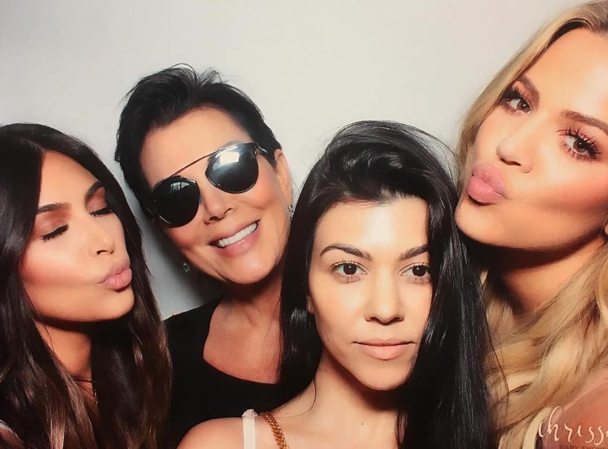 Kourtney Kardashian, Kris Jenner, Kim Kardashian West, and Khloe Kardashian At Chrissy Baby Shower