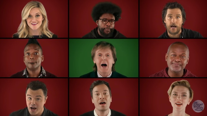 "It's A 'Wonderful Christmastime' When Jimmy Fallon, Paul McCartney and The ""Sing"" Cast Perform"