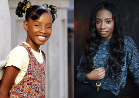 Imani Hakim in 'Everybody Hates Chris'/Hakim in a recent shoot