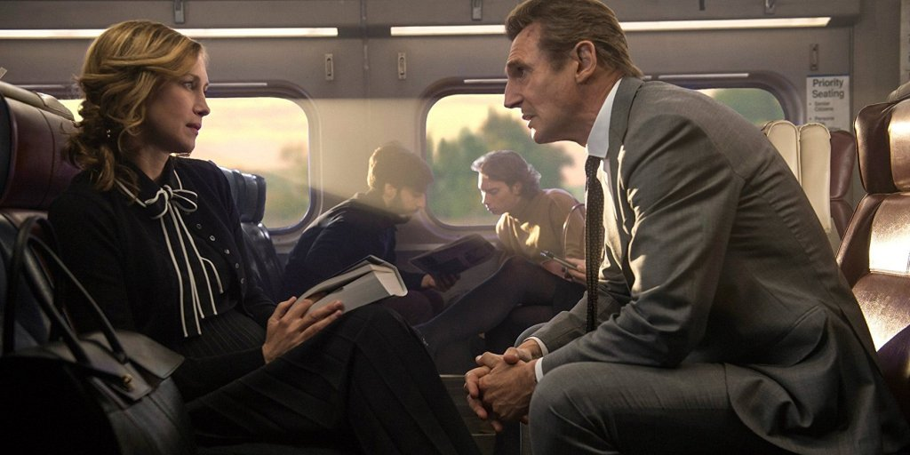 """Vera Farmiga and Liam Neeson in """"The Commuter""""/ Photo: Lionsgate"""