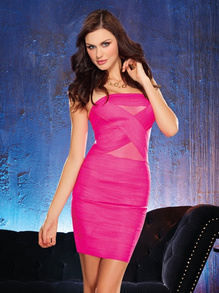 Shoulder Dress Sexy Bodycon Bandage Club Dress