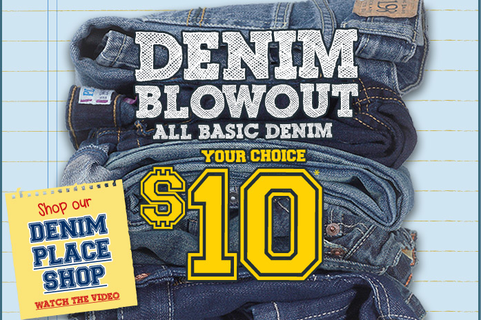 $10 Denim at The Children's Place