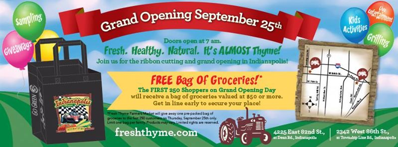Two New Fresh Thyme Stores Opening in Indianapolis