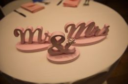 DY wooden Mr. and Mrs. sign for sweetheart table