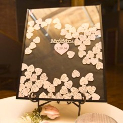 DIY heart dropbox guestbook