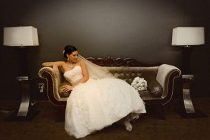 glamourous bridal photo