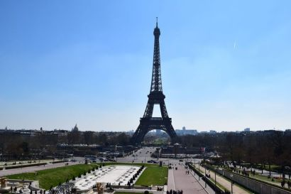 The view of the Eiffel Tower from Trocadero Square
