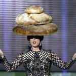 woman in bread hat