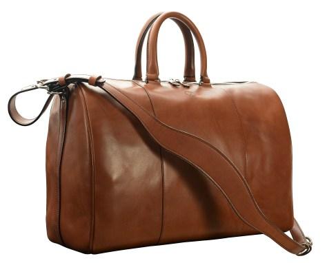 Hand-burnished,-espresso-Duffel-Bag;-19-x-13-x-9'
