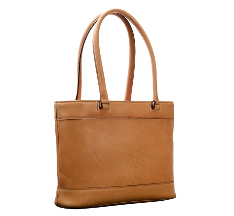 Hand-grained,-natural-Business-Tote-with-long-handles;-14-x-10-x-4'