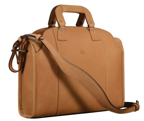 Hand-grained-natural-leather-Deal-Bag;-17-x-12-x-5'