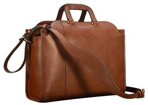 Hand-burnished-espresso-Day-Tote;-17-x-12-x-6
