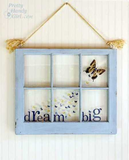 8 things to make with antique windows glass art for Old window panes craft ideas