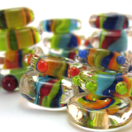 Striped Disk Beads by Chestnut Ridge Designs