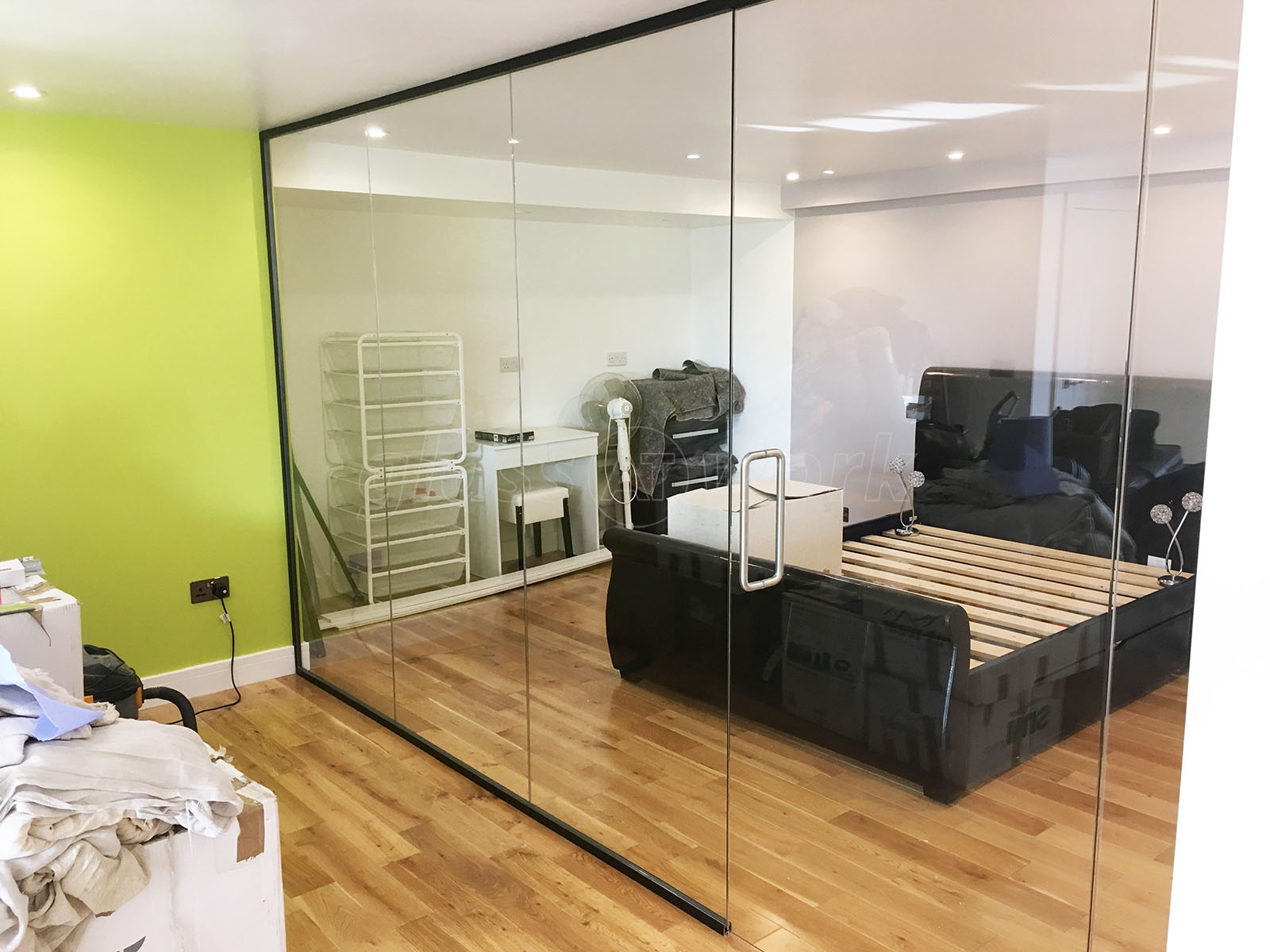 Partitioned Bedroom Glass Partitioning At Domestic Property Newhaven East
