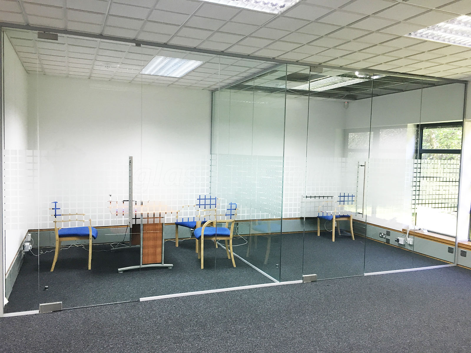 Open Glass Wall Glass Partitioning At Park Gate Mortgage And Protection Ltd