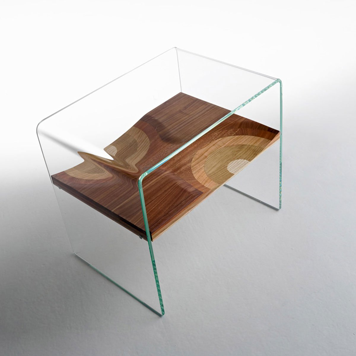 Side Table Glas Bifronte Wood And Glass Side Table Klarity Glass Furniture