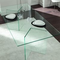Bacco All Glass Dining Table - Klarity