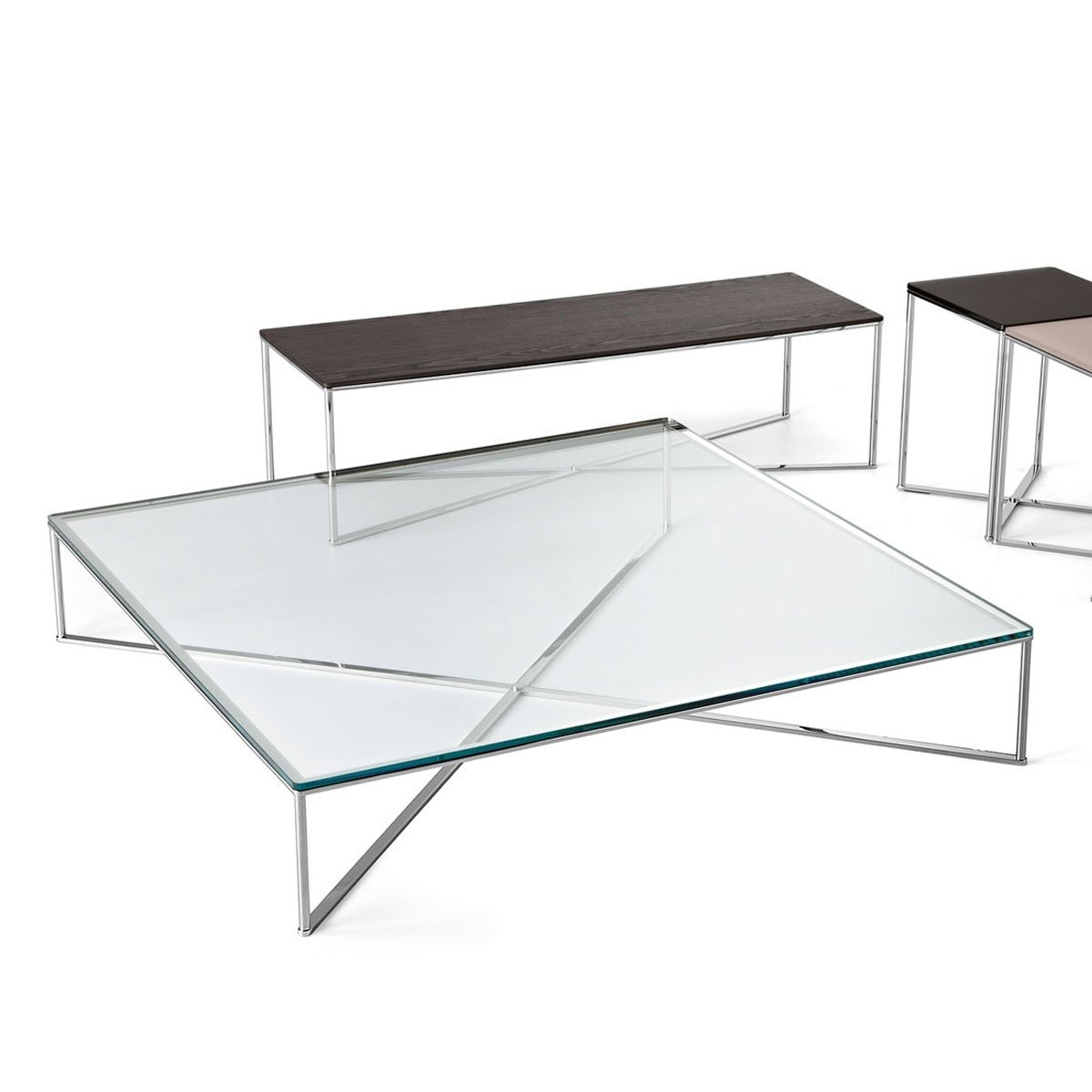 Glass And Steel Coffee Tables Gallotti And Radice Coffee Tables Klarity Glass Furniture