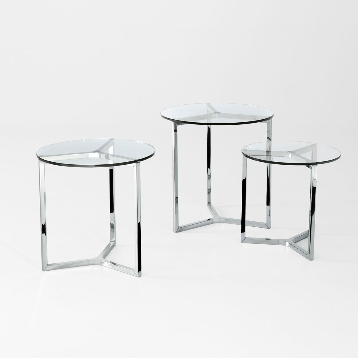 Side Table Glas Raj 2 Glass And Metal Side Table By Gallotti And Radice
