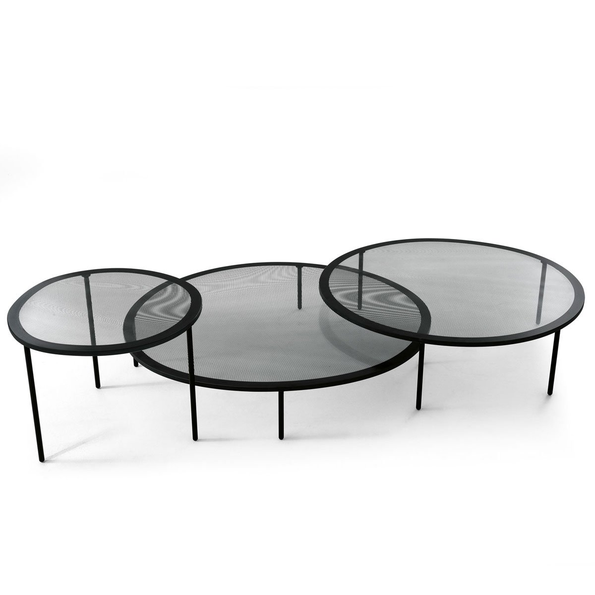 Glass And Steel Coffee Tables Taffy Glass And Metal Coffee Table By Gallotti And Radice