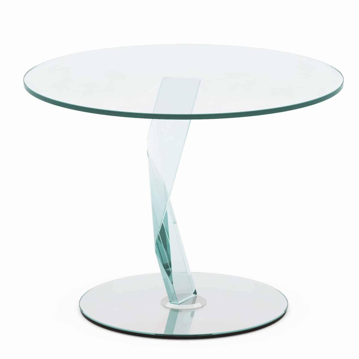 Side Table Glas Bakkarat Glass Side Table By Tonelli Klarity Glass