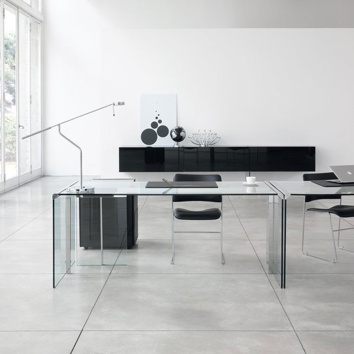 Schreibtisch Glas Metall President Glass And Metal Desk By Gallotti And Radice