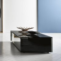 Ghotam smoked Glass Coffee table with 1 Drawer - Klarity ...