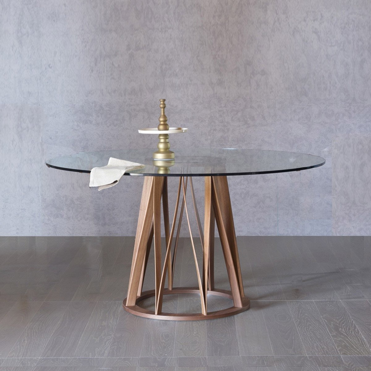 Round Glass Dining Table Acco Round Wood And Glass Dining Table Klarity Glass