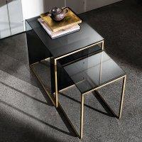 Nido Glass and Metal Coffee Table - Klarity - Glass Furniture