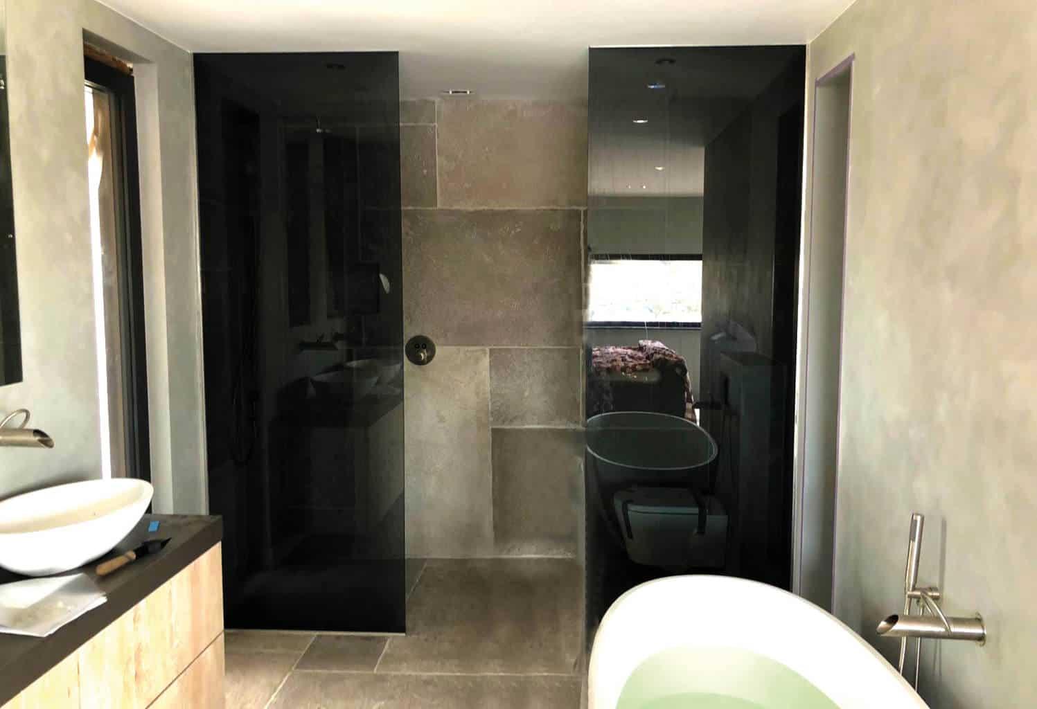 Glazen Wand Douche : Glazen wand op maat badkamer glazen douchewand online bestellen
