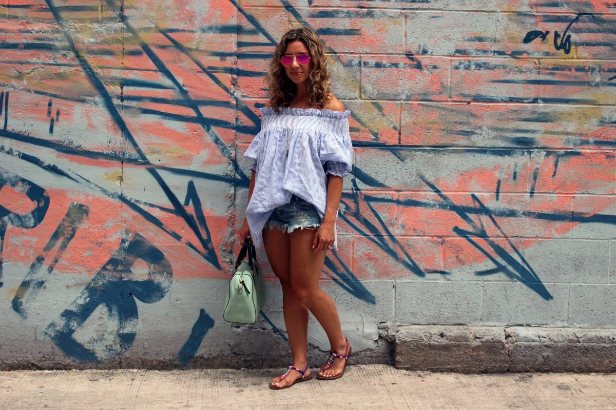 Coconut Lime Refresher: Distressed Shorts and an Oversized Tunic
