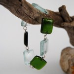 Recycled Bottle and Window Glass Bracelet