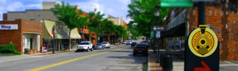 Downtown Lee's Summit Tilt Shift