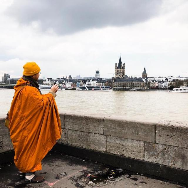 Views from the Rhine ft monk