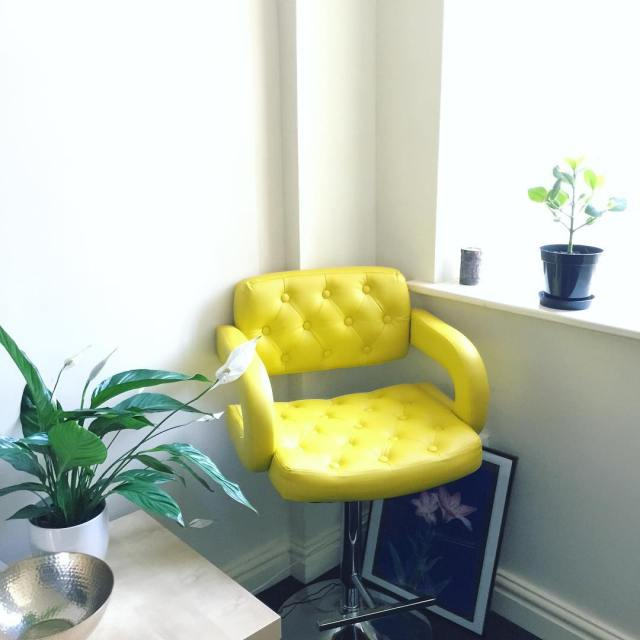 Every living room needs a people watching chair
