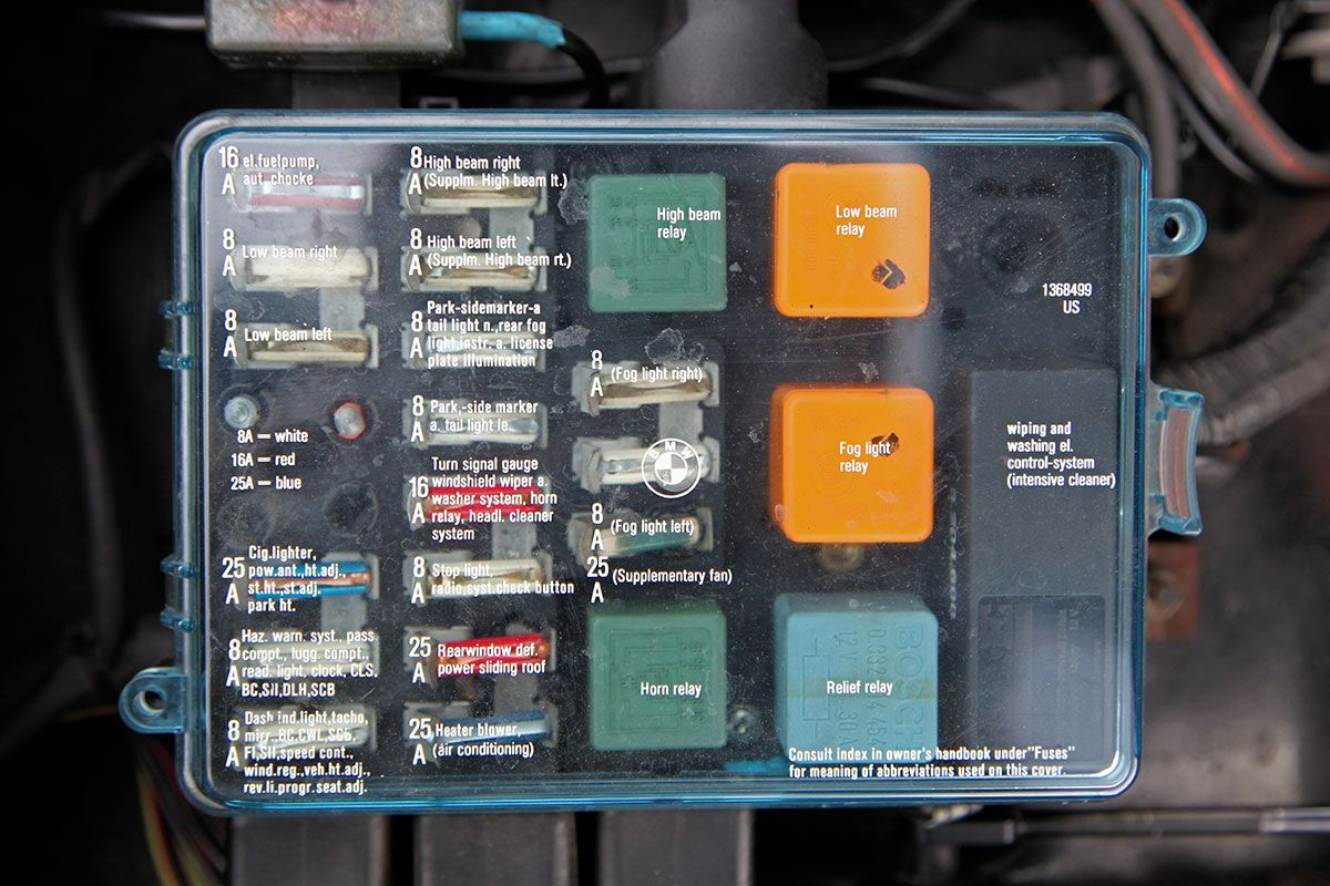 bmw e28 fuse box diagram