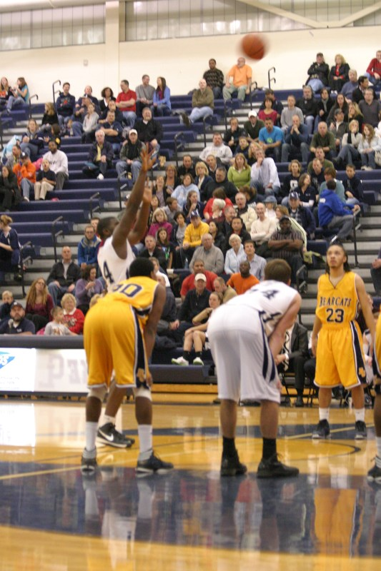 Gull Lake center Odell Miller shoots a free throw in friday's win over Battle Creek Central.Photo by Megan Hamann