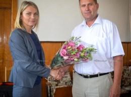 Nina CERETEU, primar de Drochia, și Victor DARII, viceprimar  © Nelly Ciobanu/GD