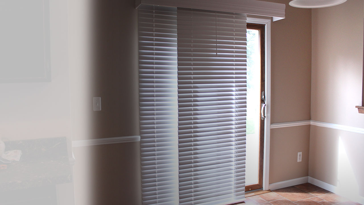 Wooden Door Blinds Glider Blinds Window Treatments For Sliding Doors